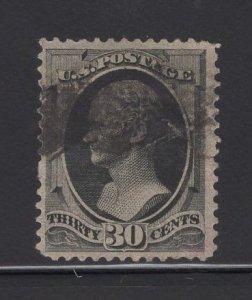 US Stamp Scott #165 30c Gray Black Hamilton USED SCV $135