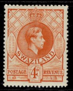 SWAZILAND GVI SG33, 4d orange, M MINT. Cat £14. PERF 13½ X 13