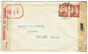 Southern Rhodesia 1944 Salisbury cancel on cover to the U.S., censored