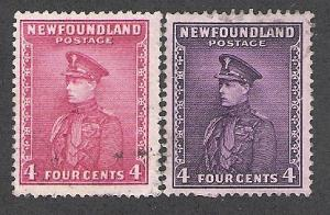 Newfoundland #188-189, Prince of Wales, Used**