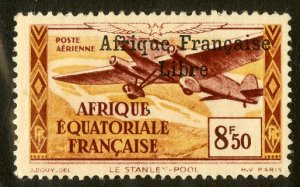FRENCH EQUATORIAL AFRICA C14 MH SCV $4.00 BIN $1.75 AIRPLANE