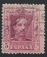Spain 333 5c Alfonso XIII 1922-26 used