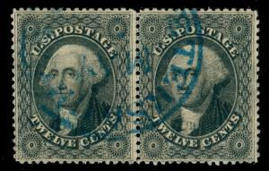 MOMEN: US STAMPS #36 USED PAIR PSE CERT