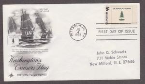 1347 Washington's Cruisers Flag ArtCraft FDC with neatly hand stamped address
