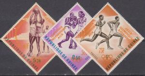 Guinea #312-4 MNH VF Y & O Overprints CV $7.00 (A7887)