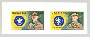 Nagaland (Propaganda) 1971 Scouts 1v Imperf S/S Collective Proof Pair