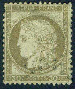 FRANCE Scott 62 30c 1872 Ceres Bordeaux issue