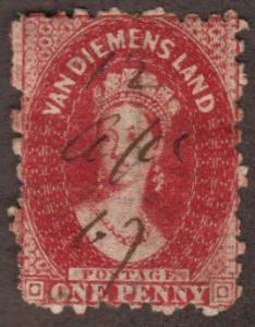 Tasmania #23 used Queen Victoria