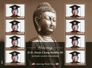 Liberia Famous People Stamps 2020 MNH HH Dorje Chang Buddha III Buddhism 8v M/S