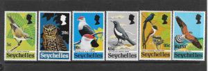 BIRDS - SEYCHELLES #299-304  MNH