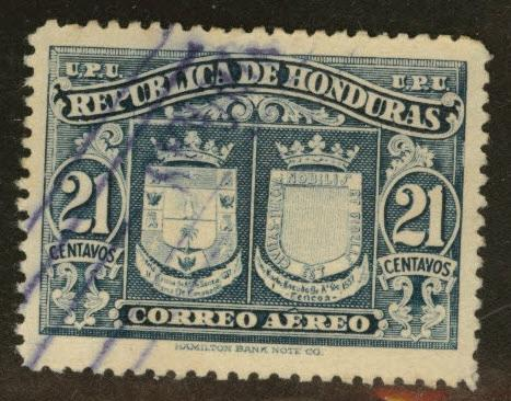 Honduras  Scott C160 used 1946 airmail stamp