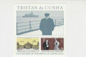 Tristan da Cunha Centenary of Birth Sir Winston Churchill MNH Stamps Sheet 27122