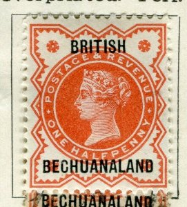 BECHUANALAND; 1887 classic QV Optd Mint hinged 1/2d. value