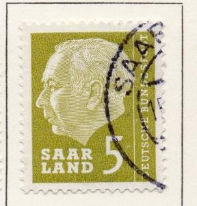 Germany Saar 1957 Early Issue Fine Used 5f. 116837