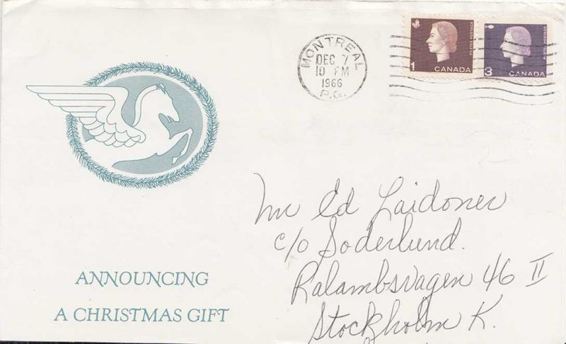Canada 1966 Postal History