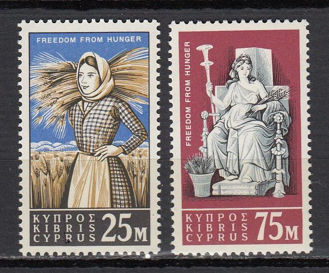Cyprus - 1963 Freedom from Hunger Sc# 222/223 - MNH ( 2389)