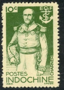 INDO-CHINA 1944 10c ADMIRAL CHARNER Portrait Issue Sc 256 MNGAI