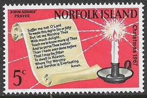 NORFOLK ISLAND 1967 CHRISTMAS Issue Sc 115 MNH