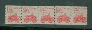 U.S. #1908 MINT PL# Strip of 5 PL# 2 VF NH Cat $425