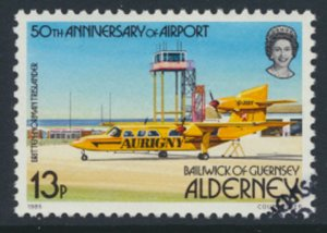 Alderney  SG A19  SC#  19  Aircraft Airport Used First Day Cancel - as per scan