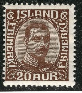 Elusive Iceland SC #119 Mint Fine hr SCV $65.00 Nice!