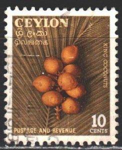 Sri Lanka. 1954. 281. Coconuts, flora. USED.