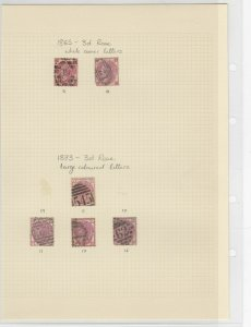 Great Britain 1865-73, Used Stamps CAT£800 Ref: R6286