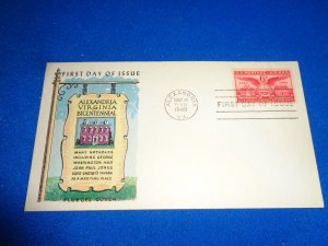 FLEUGEL MULTI COLORED CACHET FDC:  US SCOTT# C40