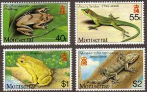 Montserrat #410-13 MH cpl reptiles