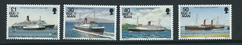 Isle of Man MUH SG 555, 551, 553, 554 1993 ships -  1993 ...