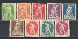 German States - Bavaria 1920 Sc# 238-246 MH/HR NG G/VG - Nice set