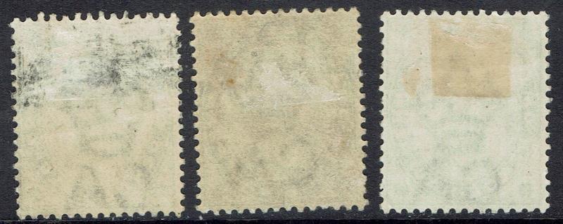 MALTA 1885 QV 21/2D ALL 3 SHADES