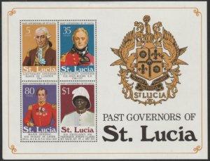 St Lucia #362a MNH Souvenir Sheet