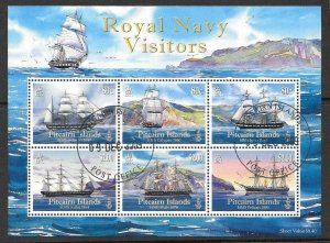 PITCAIRN ISLANDS SGMS795 2009 ROYAL NAVY VISITOR FINE USED