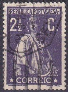 Portugal #212 F-VF Used CV $9.50   (Z3223)
