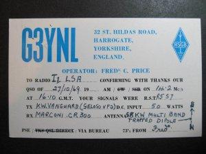 10502 Amateur Radio QSL Card HARROGATE YORKSHIRE ENGLAND