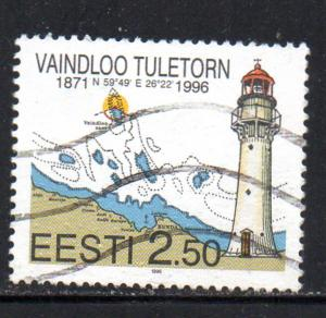 Estonia Sc 309 1996 Vaindloo Lighthouse stamp used