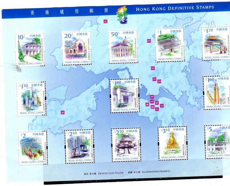 Hong Kong 1999 Buildings MNH Sheetlet