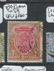 INDIA PATIALA  (P0804BB) KGV 2R  SG 59   VFU