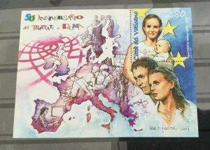 Vatican City Sc# 1364 MNH Souvenir Sheet - 2007 Treaty of Rome