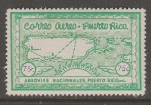 Puerto Rico Private airmail stamp MNH Gum- slight gum disturb 2-14-21-1d