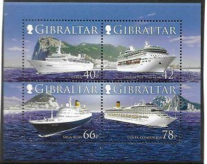 2006    GIBRALTAR  -  SG. MS 1184  -  CRUISE SHIPS  (ISSUE 2)    -  MNH