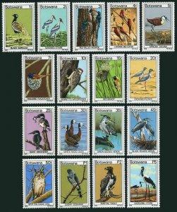 Botswana 198-214,MNH.Michel 198-214. Birds 1978.Korhaan,Marabou,Herons,Eagle owl