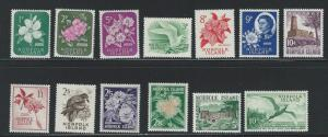 Norfolk Island MNH AND MH  sc 49 - 60
