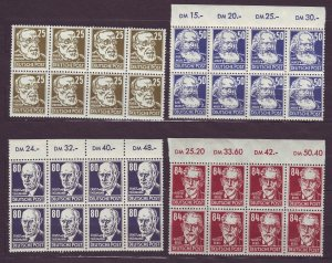 J23556 JLstamps 1948 germany DDR blk,s 8 mnh #10n38,41,43-4 wmk 292