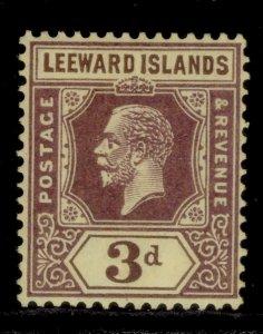 LEEWARD ISLANDS GV SG69, 3d purple/yellow, M MINT.