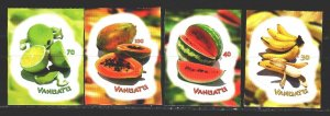 Vanuatu. 2007. 1327-30 from the series. Tropical fruits. MNH.