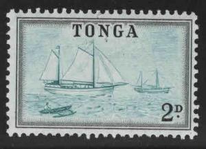 TONGA  Scott 102 MH* sailboat stamp