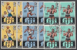 FIJI 1971 South Pacific Games set fine used blocks of 4.....................A892