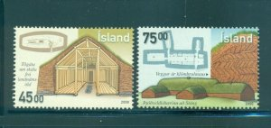 Iceland - Sc# 922-3. 2000 Ancient Architecture. MNH. $4.00.